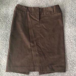 Brown pencil skirt express like new